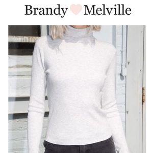 Brandy Melville Daniella turtleneck - light grey